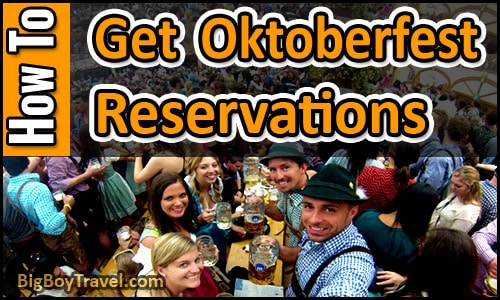 How To Get Oktoberfest Reservations In Munich Table Seat Booking In Tent