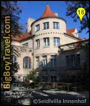 Munich English Garden Walking Tours Map, Schwabing Seidlvilla Manor