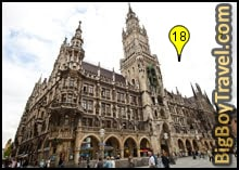 old town munich walking tour map