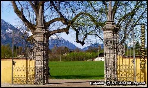 Salzburg Sound of Music Movie Film locations Tour Map - Frohnburg Palace Gates