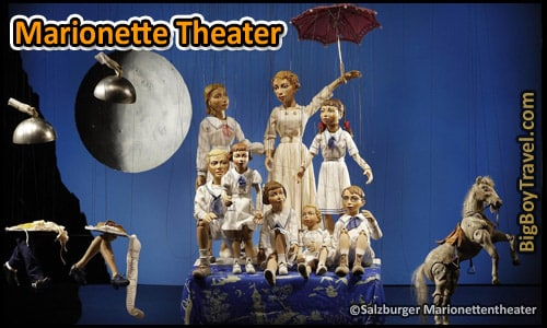 Salzburg Sound of Music Movie Film locations Tour Map - Marionette Puppet Theater Scene Lonely Goatherd