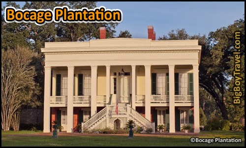 Southern Plantation Mansions Tours Near New Orleans Louisiana - Bocage