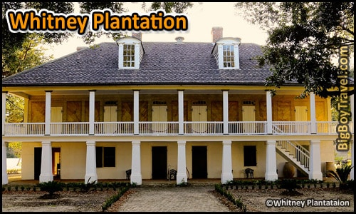 Southern Plantation Mansions Tours Near New Orleans Louisiana - Whitney