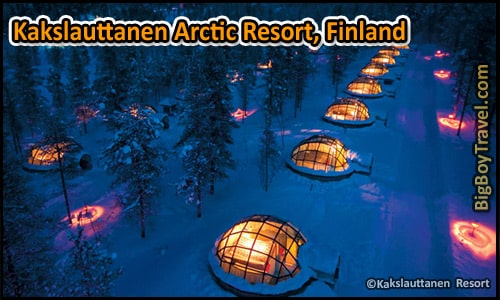 Coolest Hotels In The World, Top Ten, Kakslauttanen Arctic Resort Finland