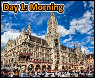 Suggested Itineraries For Munich Germany - 1 Day, 24 Hours