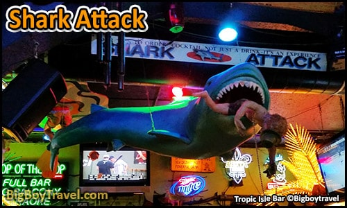 top ten must try drinks in New Orleans best Signature cocktails - Shark Attack tropical isle
